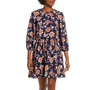 Like New Eliza J Floral Crepe Blouson Dress